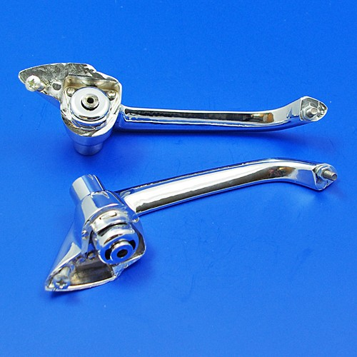 105E-7022400/1: push button outside door handles without key barrel (pair) - Chrome Fittings and ...